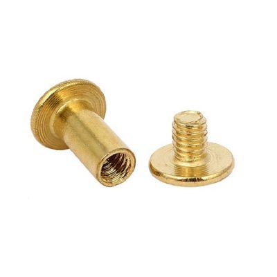brass chicago screws