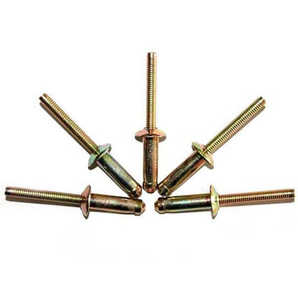 Brass blind rivets