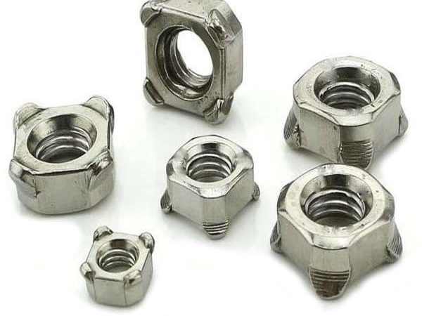 galvanized square weld nuts
