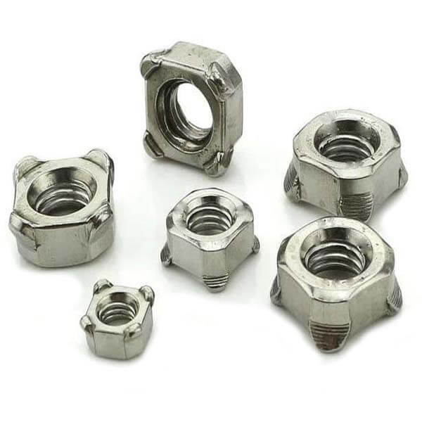 galvanized square weld nuts