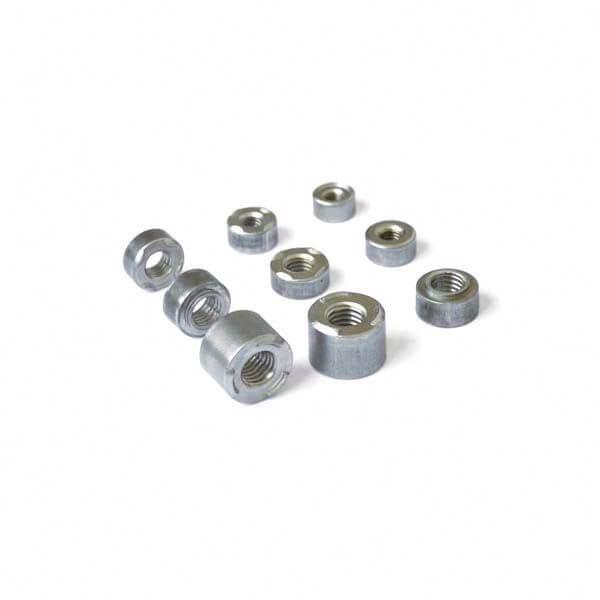 Round weld nuts